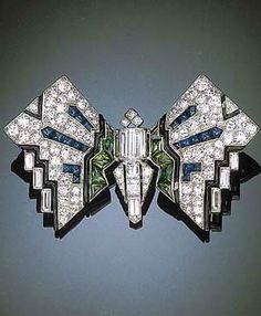 Art Deco Butterfly Brooch 1925