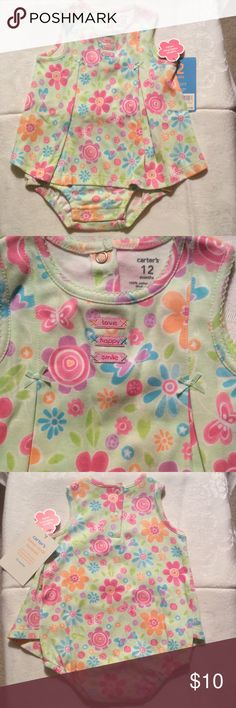 NWT - Infant playful Sunsuit by Carter's Playful Cool Baby's Sunsuit by Carter's Carter's One Pieces