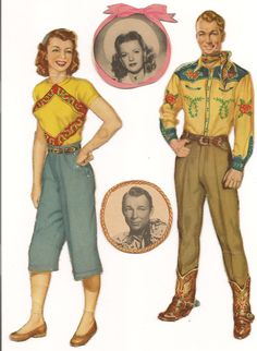 Roy Rogers and Dale Evans paper dolls