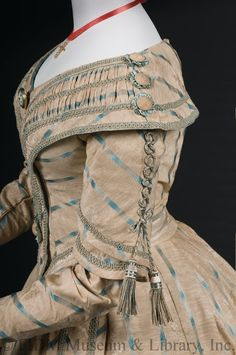 Day dress, 1841-42 From the FIDM Museum