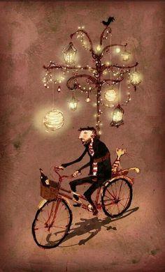 Omino in bicicletta