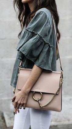 Chloe Faye bag / street style fashion #desginerbag #luxury #streetstyle #fashion #chloe #chloefaye/ Instagram: @fromluxewithlove