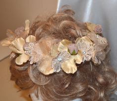 Coffee brown flower crown Bridal flower by creatingwithni on Etsy