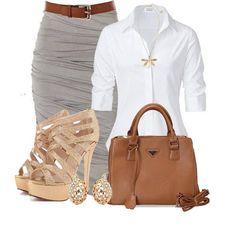 blouses, fashion outfits, classi, beauti, pencil skirts, work outfits, casual outfits, office outfits, shoe