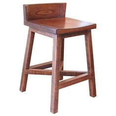 "This rustic, counter height bar stool will be a perfect accent to your kitchen or bar area. The base and seat of the stool are made of wood and features a natural brown finish. The design of the piece is refreshingly simple with clean lines and a homey design.  The Pueblo 24"" Counter Height Stool with Low Back by International Furniture Direct at Great American Home Store in the Memphis, TN, Southaven, MS area.  #ShopGAHS #stool #pubchairs #counterheight"