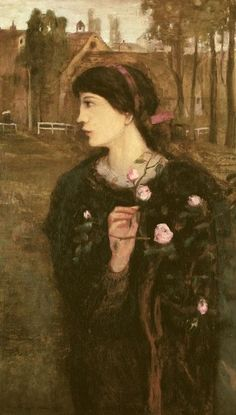 Gulácsy Lajos - Song about the rose tree, 1904 Contemporary History, Rose Trees, Brush Strokes, Artist Art, Art Google, Female Art, Surrealism, Art Nouveau, Art Gallery