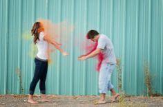 engagement chalk fight photography  Sugar Rush Photography www.sugarrushphoto.com