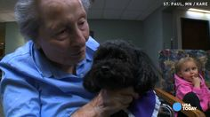 This black teacup poodle named Nala is making everyone smile at a nursing home in Minnesota. She scurries from room to room, even riding the elevator by herself, to see her friends.