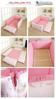 Many Koreans in Korea still sleep on the floor and what do they do when they have a baby? Here's their ingenious idea! I love it!