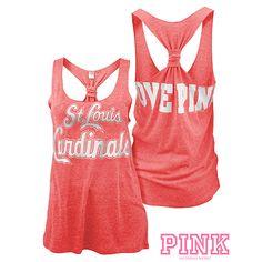 PINK Cardinals Tank I live pink but NOT the CARDINALS GO RED SoXS