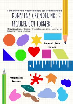 Bildlärarbloggen | En bildlärares vardag Art For Kids, Crafts For Kids, Arts And Crafts, Learn Swedish, Swedish Language, Educational Activities For Kids, Teaching Art, Pre School, School Supplies