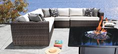 Outdoor Sectional Wicker Patio Furniture - Louvre Luxury Outdoor Sectional in Toronto