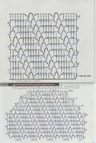 It is a website for handmade creations,with free patterns for croshet and knitting , in many techniques & designs. Crochet Diagram, Crochet Chart, Filet Crochet, Crochet Motif, Knit Crochet, Crochet Stitches Patterns, Stitch Patterns, Knitting Patterns, Mode Crochet