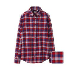WOMEN Flannel Check Long Sleeve Shirt H - UNIQLO UK Online fashion store