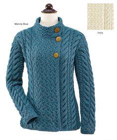 - Asymmetrical Three-Button Cardigan