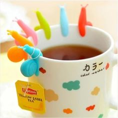 Cute 6 PCS/Set Snail Shaped Silicone For Mug Cup Tea Bag //Price: $3.48 & FREE Shipping //     #discount