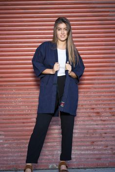 Japanese boro vintage jacket higashi kanda by EasternClassic Boro, Vintage Jacket, Normcore, Japanese, Trending Outfits, Jackets, Etsy, Shopping, Collection