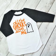 Boys Halloween Shirt - All the Ghouls love me shirt - Boys halloween raglan Shirt - Toddler Boy Halloween Shirt - Toddler Boy Shirt by ShopHartandSoul on Etsy https://www.etsy.com/listing/467068240/boys-halloween-shirt-all-the-ghouls-love
