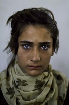 This dear face shows having to survive. My prayer for her is that she is safe and happy. Kunduz - Steve McCurry