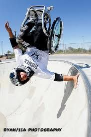 Extreme wheelchair athelete Aaron Fotheringham <3 Vegas, baby!!