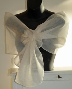 Silk Organza Pull Thru Wrap/Shawl/Shrug..Hands Free by Paulownias