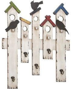 Wood Metal Wall Hook with Intricate Designs farmhouse-hooks-and-hangers