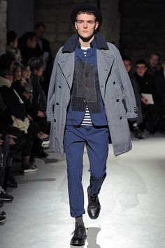 Model in Junya Watanabe Fall 2013 Collection #menswear #FW13