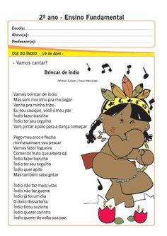 Nosso Espaço Educando: Dia do Índio - Música para imprimir, 1º, 2º e 3º a...