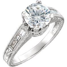 Item #: 651867:101:P  A    14kt White 1/4 CTW Diamond Semi-mount Engagement Ring for 6.5mm Round Center   Stuller
