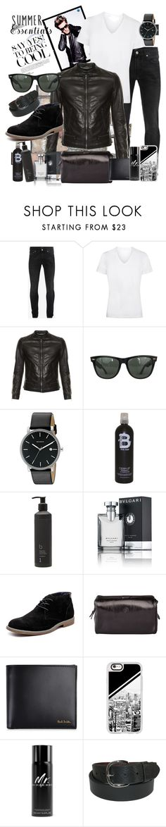 """""""He's so Cool"""" by nikkimmorrison ❤ liked on Polyvore featuring Alexander McQueen, Dolce&Gabbana, Ray-Ban, Skagen, TIGI, Bamford, Bulgari, Hush Puppies, Paul Smith and Casetify"""