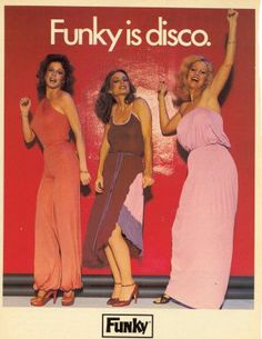 Funky Disco Fashion My mama had a red jumpsuit just like the one on the left. I thought she was most fabulous!