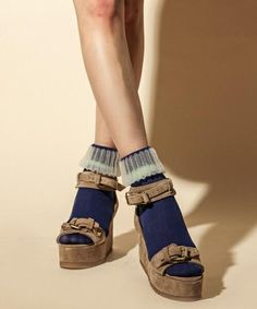FACETASMのソックス/靴下 FACETASM  ソックス|ブルー系