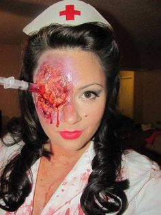 My boyfriend could totally do this for me, whenever I decide to be a nurse for Halloween again. :p