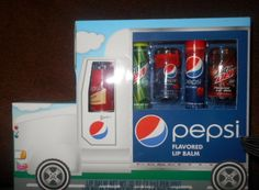 New  PEPSI AND MOUNTAIN DEW FLAVORED LIP BALMS