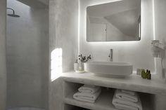 4 + 1 Bedroom Villa in Plaka area in Naxos! Proud member of Naxos Premium Chic Bathrooms, Double Vanity, Breeze, Swimming Pools, Aqua, Mirror, Naxos Greece, Furniture, Nest