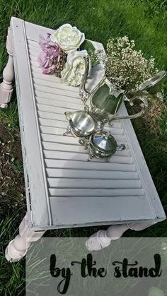 diy shutter table, painted furniture, repurposing upcycling, woodworking projects