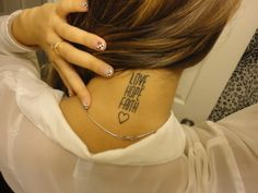 Cute neck tattoo