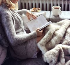 Faux fur blanket ~ of course