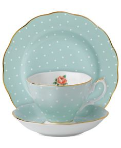 Royal Albert Dinnerware, Polka Rose 3-Piece Set - Fine China - Dining & Entertaining - Macy's