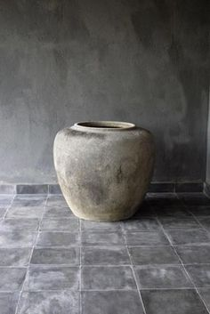 Concrete Pot. Concrete is a 2015 trend and it is capable of transform any house into a minimalistic but modern space. See more decor inspirations at http://www.homedesignideas.eu/