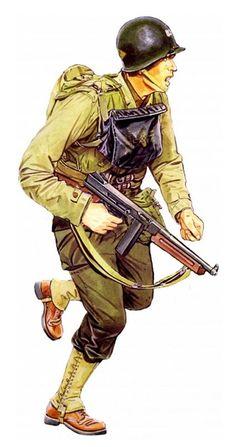 US Army Ranger, Ranger Regiment - Omaha Beach, 1944 Military Photos, Military Gear, Military History, Us Ranger, Army Ranger, Ww2 Uniforms, Military Uniforms, Ww2 Reenactment, American Uniform