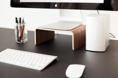Wood computer or monitor stand