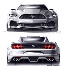 Future design Ford Mustang...quite a change over the years.