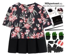 milquetoast by evangeline-lily on Polyvore featuring Jonathan Saunders, Alexander Wang, Windsor Smith, Givenchy, Pelle, Deborah Lippmann, Robbe & Berking, CB2, AlexanderWang and spring2016