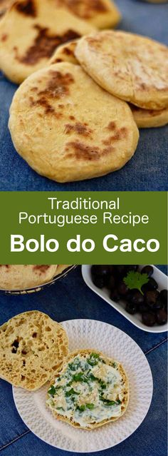 Bolo do caco is a delicious sweet potato flatbread with a hard but thin crust and with a soft and airy crumb. It is a staple of the cuisine of Madeira, an island off the coast of Portugal. Pastry Recipes, Oven Recipes, Bread Recipes, Portuguese Sweet Bread, Portuguese Recipes, Madeira Food, Chapati Recipes, Sweet Potato Bread, Cooking Bread