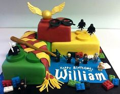 Lego Harry Potter cake.  Seriously, this is really cool.