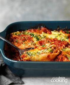 Stuffed Shells Recipe, Stuffed Pasta Shells, Dinner Party Menu, Dinner Ideas, Italian Main Courses, Jumbo Pasta Shells, Quick Weeknight Dinners, Cooking Instructions, Supper Recipes