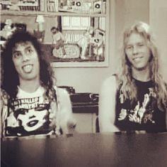 Agh so cute Kirk and James- Metallica