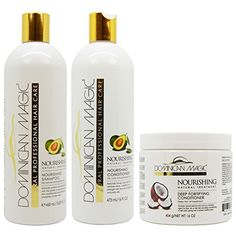 Dominican Magic Nourishing Shampoo  Conditioner  Deep Fortifying Conditioner Set >>> You can find out more details at the link of the image.(This is an Amazon affiliate link and I receive a commission for the sales)