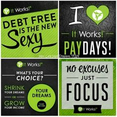 "This months bills paid by ""it works""!!"